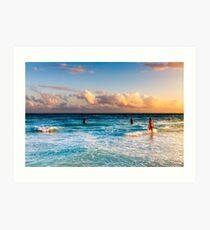 The Colorful Caribbean Sea - Playa del Carmen Mexico Art Print
