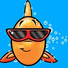 HeinyR- Goldfish with Sunglasses by cadellin