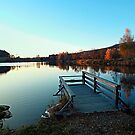 Indian summer sunset at the fishing lake II | waterscape photography by Patrick Jobst