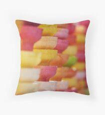 COLORFUL LAYER OF ICE CREAM CONES Throw Pillow