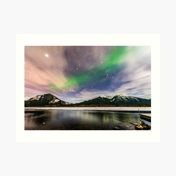 Banff Northern Lights Art Print