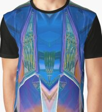 Reflected Blue Mirror Abstract I Graphic T-Shirt