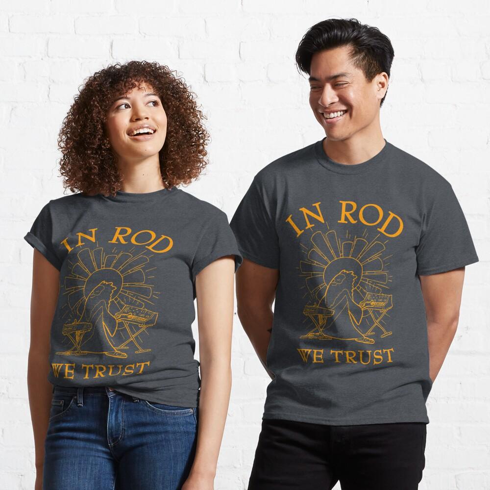 Rodney Cromwell 'In Rod We Trust' Orange Text Classic T-Shirt