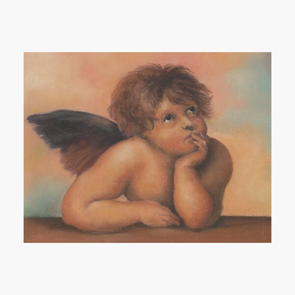Cherub in pastels 2, after Raphael Photographic Print