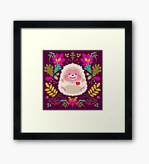 Hedgehog LOVE Framed Print