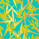 Gold & Teal Florals #redbubble #lifestyle by Uma Gokhale