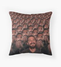 Shia LaBeouf exe Throw Pillow