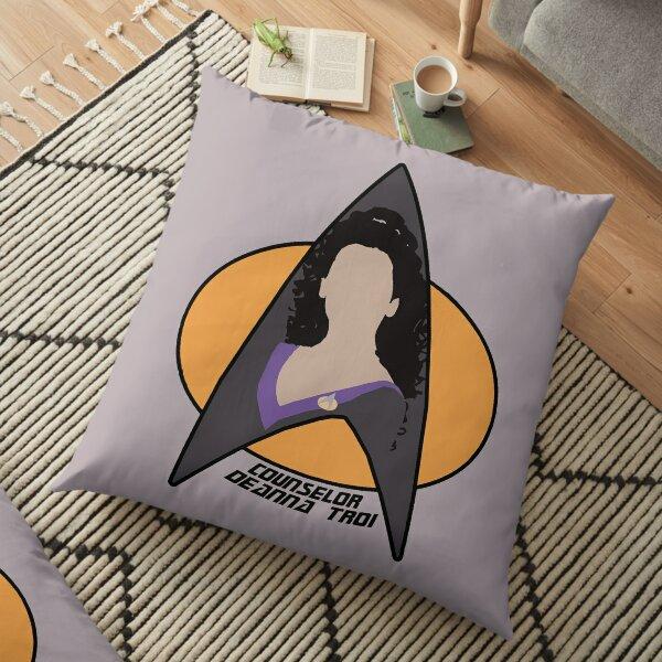 Counselor Troi - Purple Floor Pillow