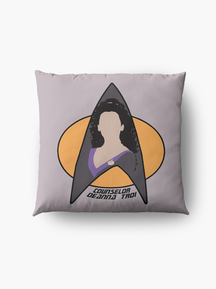 Alternate view of Counselor Troi - Purple Floor Pillow