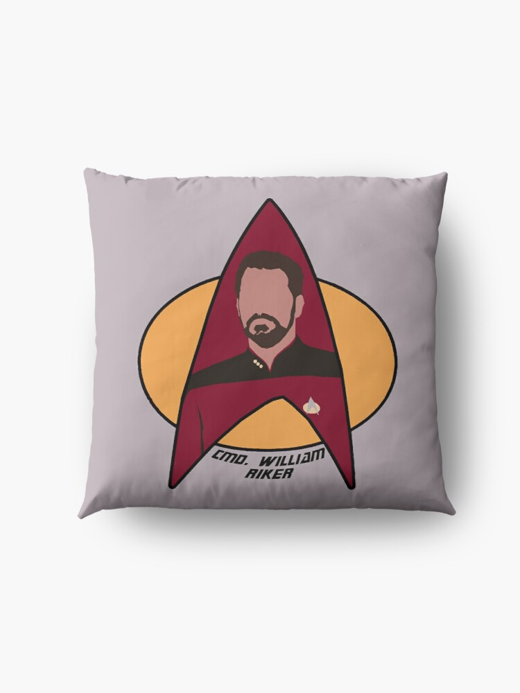 Alternate view of Commander Riker Floor Pillow