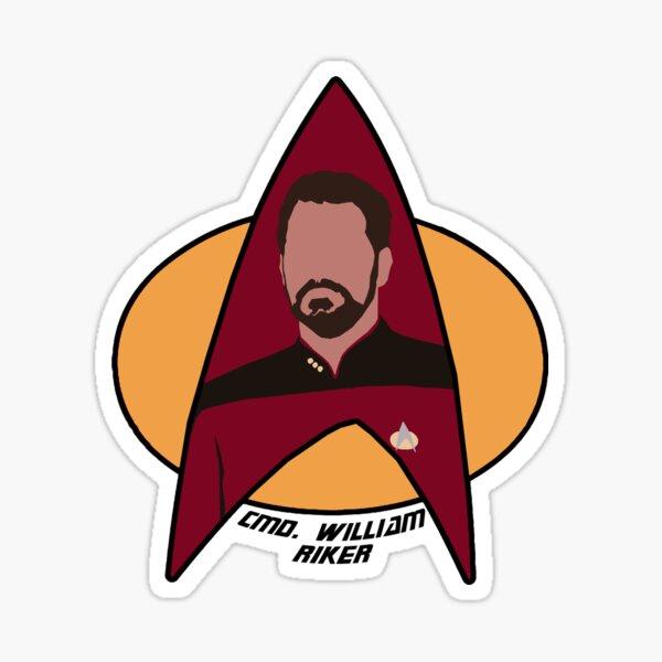 Commander Riker Sticker