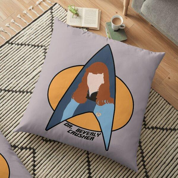 Dr Crusher Floor Pillow