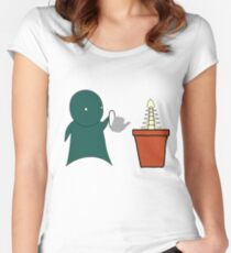 Grow A Spine Women's Fitted Scoop T-Shirt