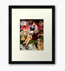 Chip Davis Elbridge III with his stay-at-home mother Framed Print