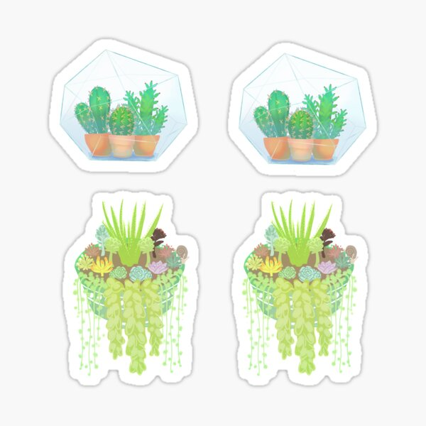 Succulents and Cacti Stickers Sticker