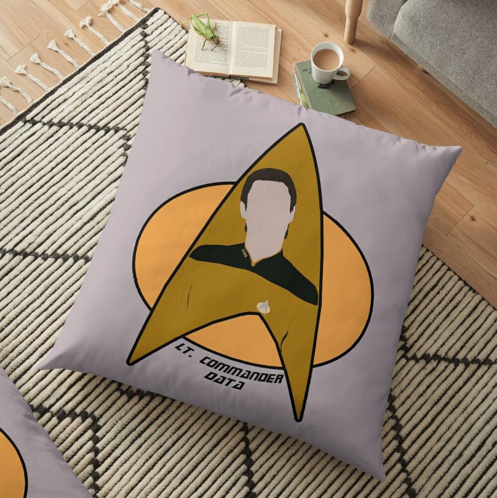 Lt. Commander Data Floor Pillow