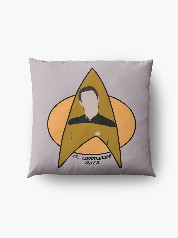 Alternate view of Lt. Commander Data Floor Pillow