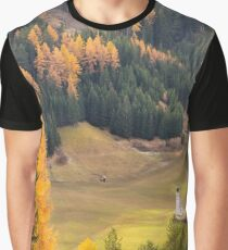Val di Funes in the Dolomites Graphic T-Shirt