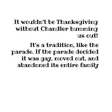 Chandler, Thanksgiving by DiesIraeKaa