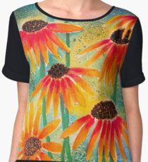 Last Coneflowers Chiffon Top