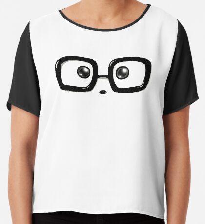 Geek Chic Panda Eyes Chiffon Top