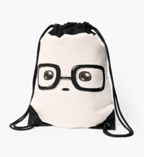 Geek Chic Panda Eyes Drawstring Bag
