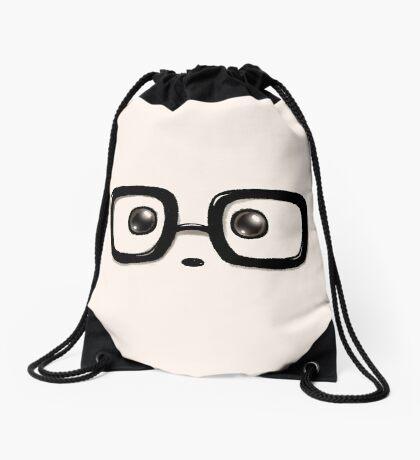 Geek Chic Panda Eyes Drawstring Bag