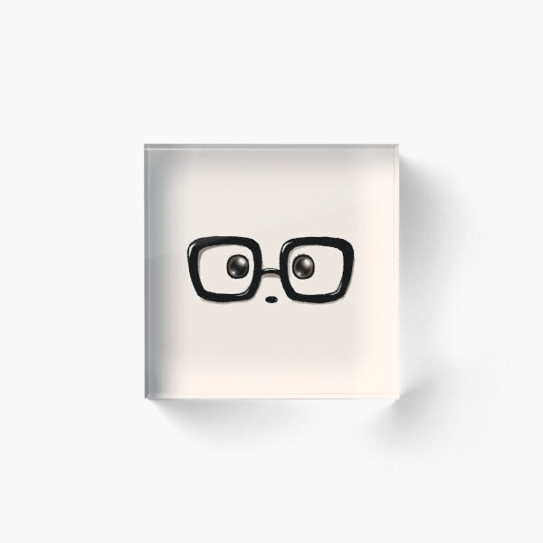 Geek Chic Panda Eyes Acrylic Block