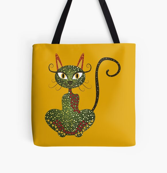 Colorful cat All Over Print Tote Bag