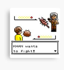Khan Wants to Fight! Canvas Print