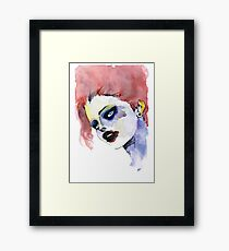 Woman in stains Framed Print