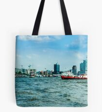 hamburger hafen 01 Tote Bag