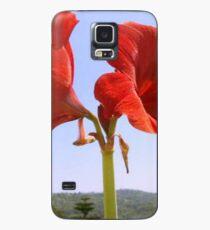 Larger than Life Orange Amaryllis Lilly Case/Skin for Samsung Galaxy