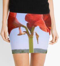 Larger than Life Orange Amaryllis Lilly Mini Skirt