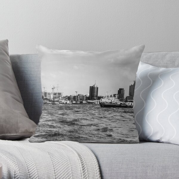 hamburger hafen 02 Throw Pillow