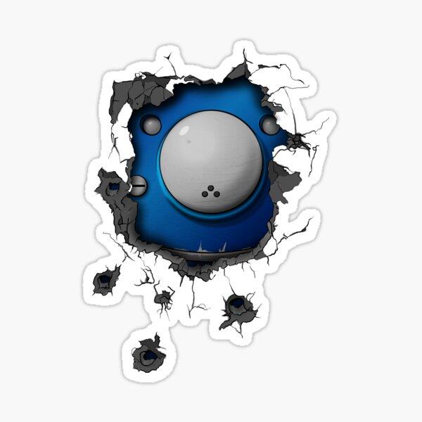Bullet-riddled wall - Tachikoma Sticker