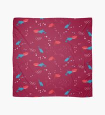Red Shark and Dolphin Scarf