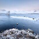 Black Mount Misty Winter Sunrise by Grant Glendinning