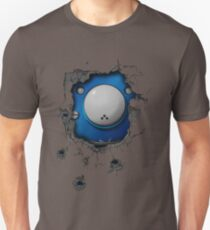 Bullet-riddled wall - Tachikoma Unisex T-Shirt