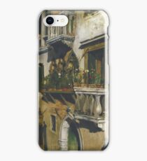 William Merritt Chase - Venice 1877. House landscape: city view, streets, building, balcony, window, cityscape, architecture, construction, travel , panorama, buildings iPhone Case/Skin