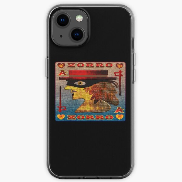 THE LEGEND OF ZORRO - ZORRO ACE OF HEARTS CARD - ZORRO GAMER CARD - GAMER CARD - HALLOWEEN PARTY - CHRISTMAS PARTY. iPhone Soft Case