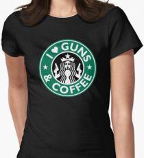 I Love GUNS AND COFFEE Shirt Funny Gun T-Shirt T-Shirt