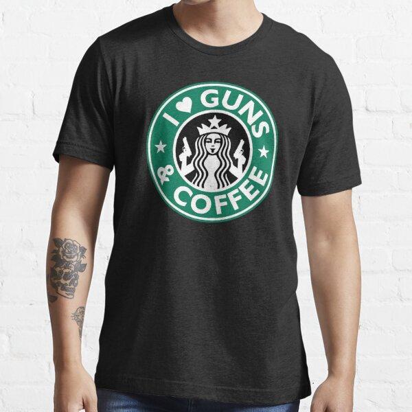 I Love GUNS AND COFFEE Shirt Funny Gun T-Shirt Essential T-Shirt