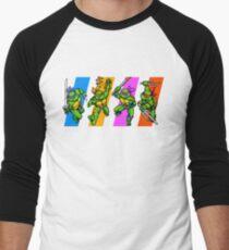 Camiseta ¾ estilo béisbol Tortugas TMNT en caracteres de tiempo