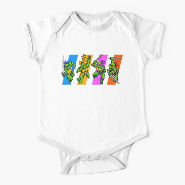 TMNT Turtles in Time Characters Short Sleeve Baby One-Piece