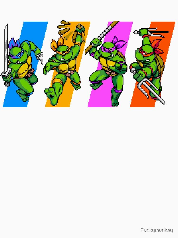 Tortugas TMNT en caracteres de tiempo de Funkymunkey