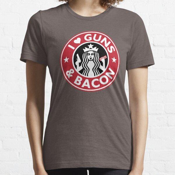 I Love GUNS AND BACON Shirt Funny Gun T-Shirt Essential T-Shirt