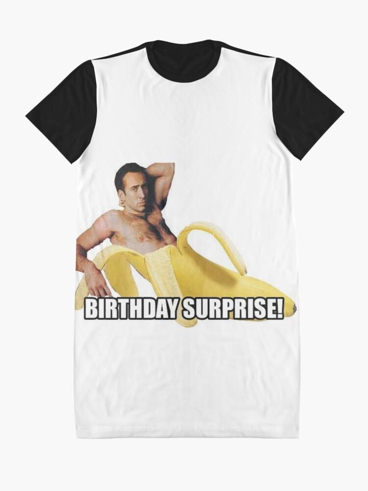 Vista alternativa de Vestido camiseta Nicolas Cage - sorpresa de cumpleaños