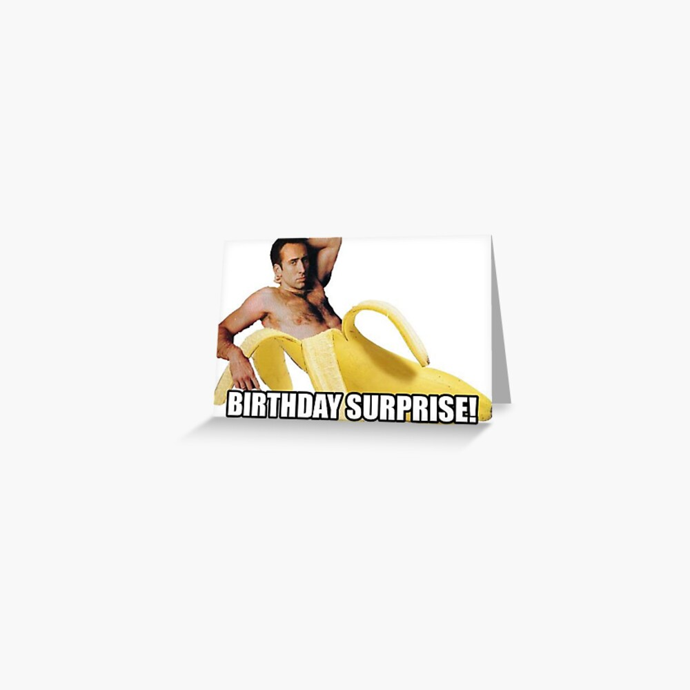 Nicolas Cage - Birthday Surprise Greeting Card