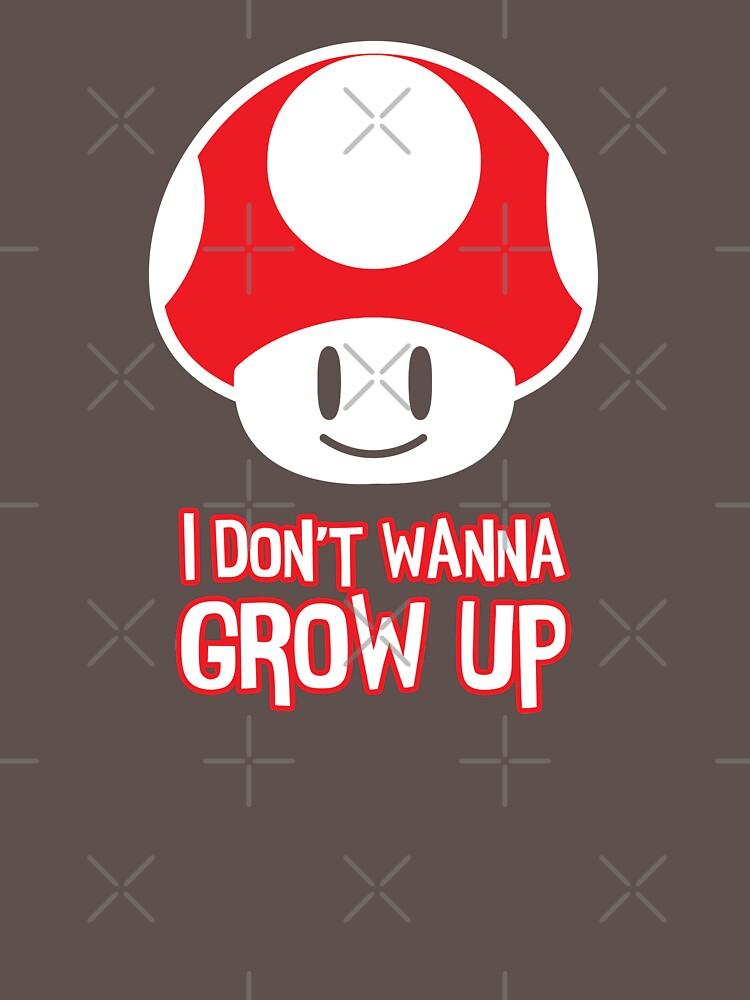 Mario Mushroom - I Don't Want to Grow Up (Happy Face) by Purakushi